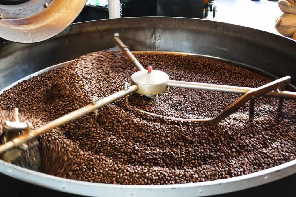 elbgold in Hamburg: the roastery in the coffee shop