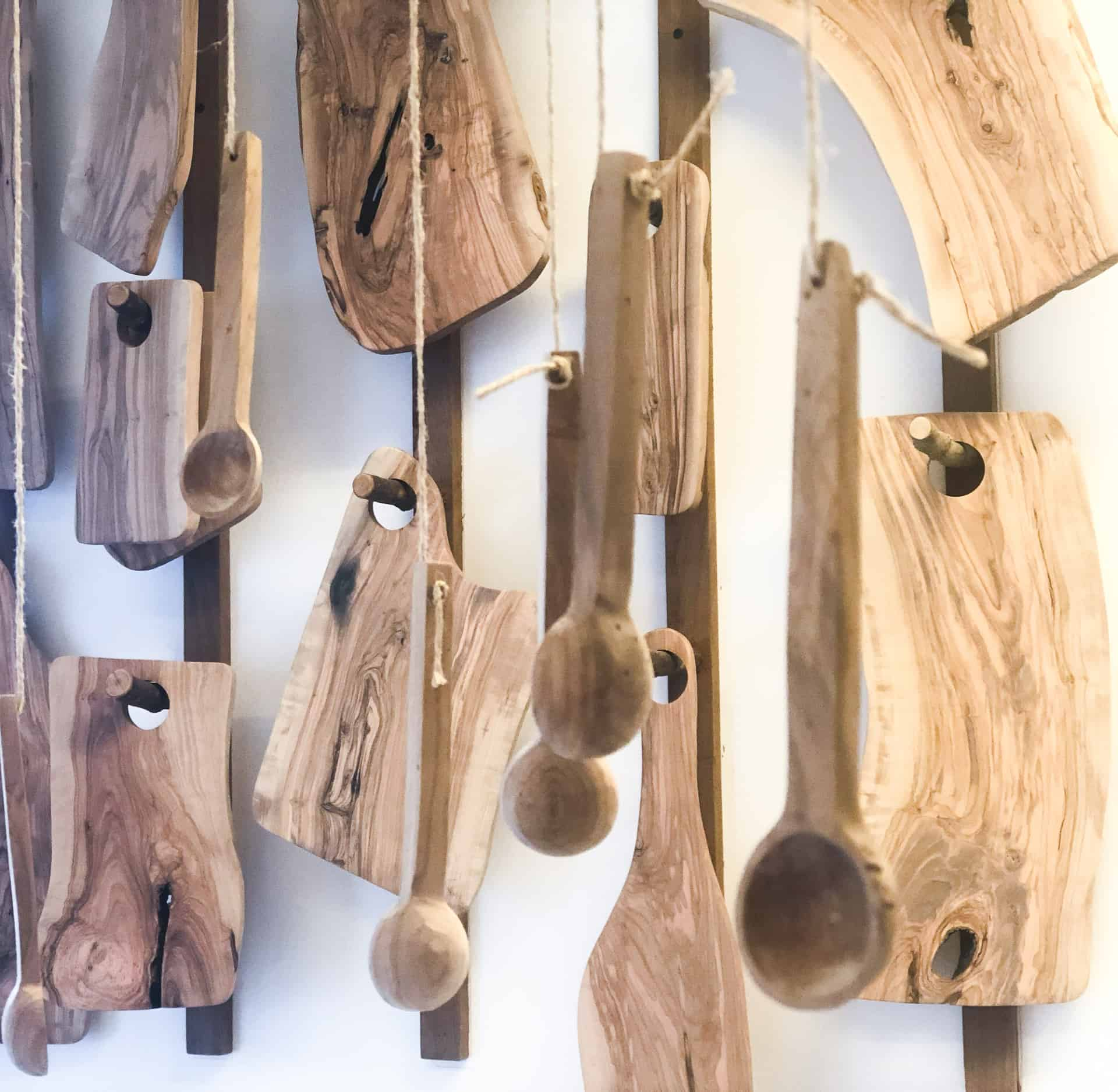 Kılçık concept handmade wooden kitchenwares made in a Turkish workshop