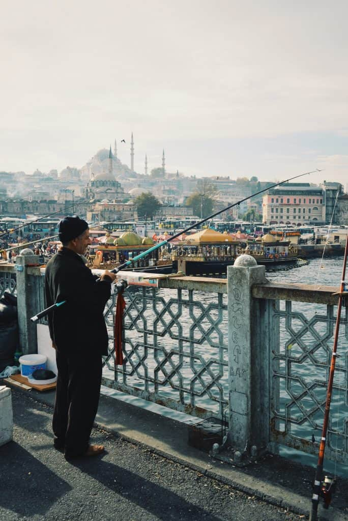 The Galata Bridge in Istanbul